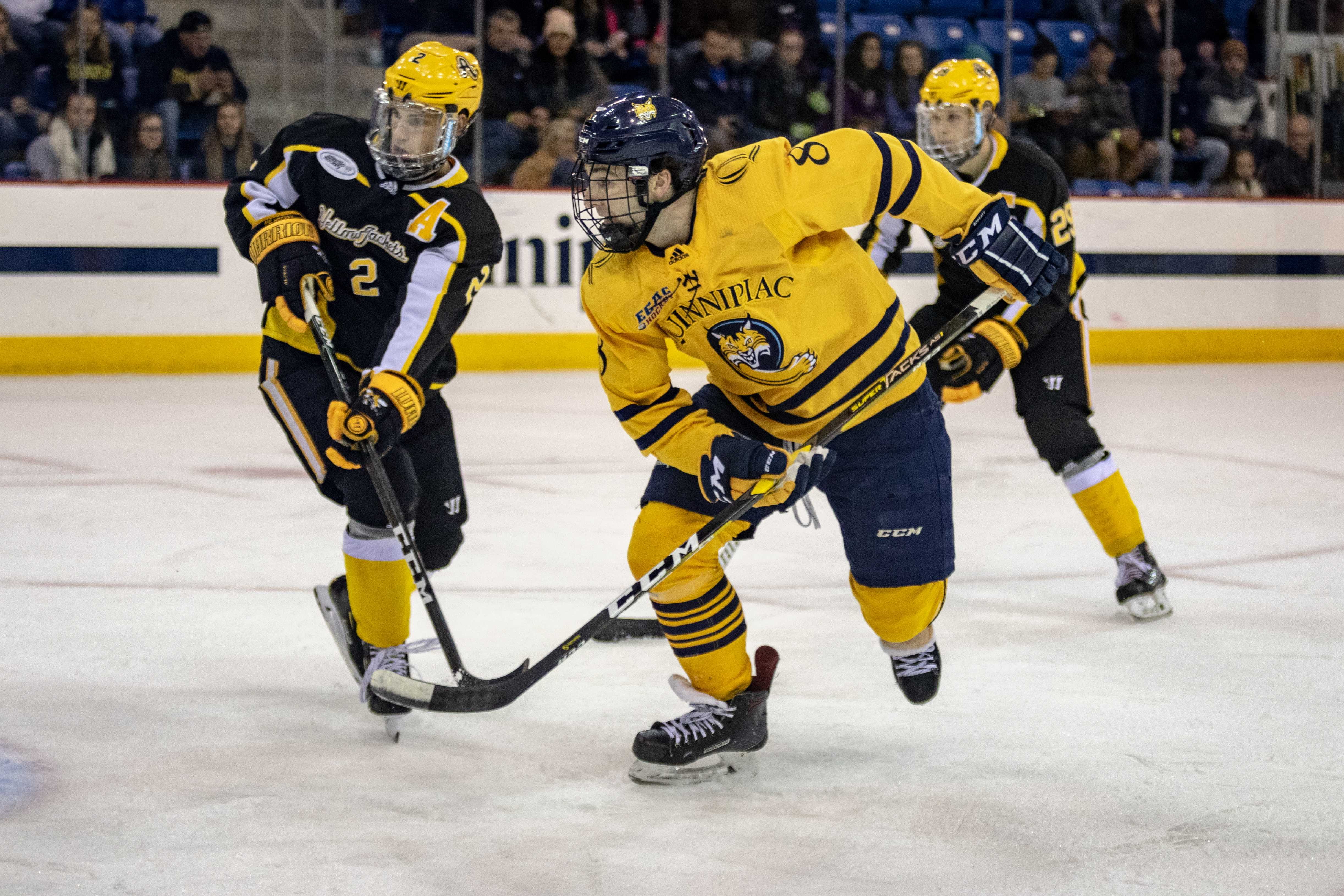 Quinnipiac men's ice hockey rolls past AIC to remain undefeated