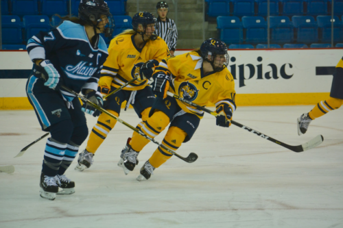 Quinnipiac women's ice hockey captain Melissa Samoskevich drafted No. 2 in NWHL Draft