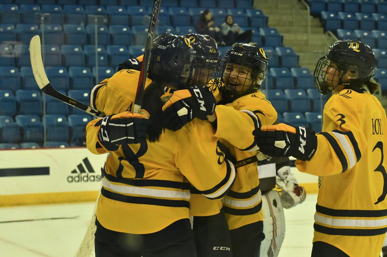 Quinnipiac women's ice hockey blanks Brown for first win of the season