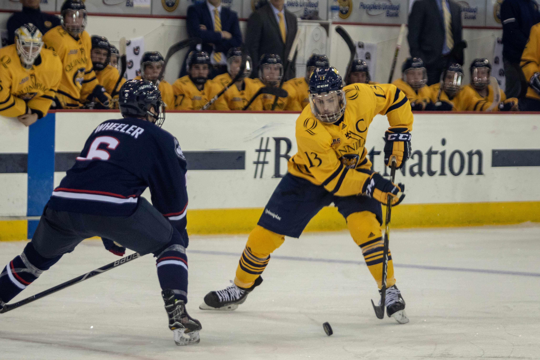 Chase Priskie breaks Quinnipiac men's ice hockey DI record for goals by a defenseman