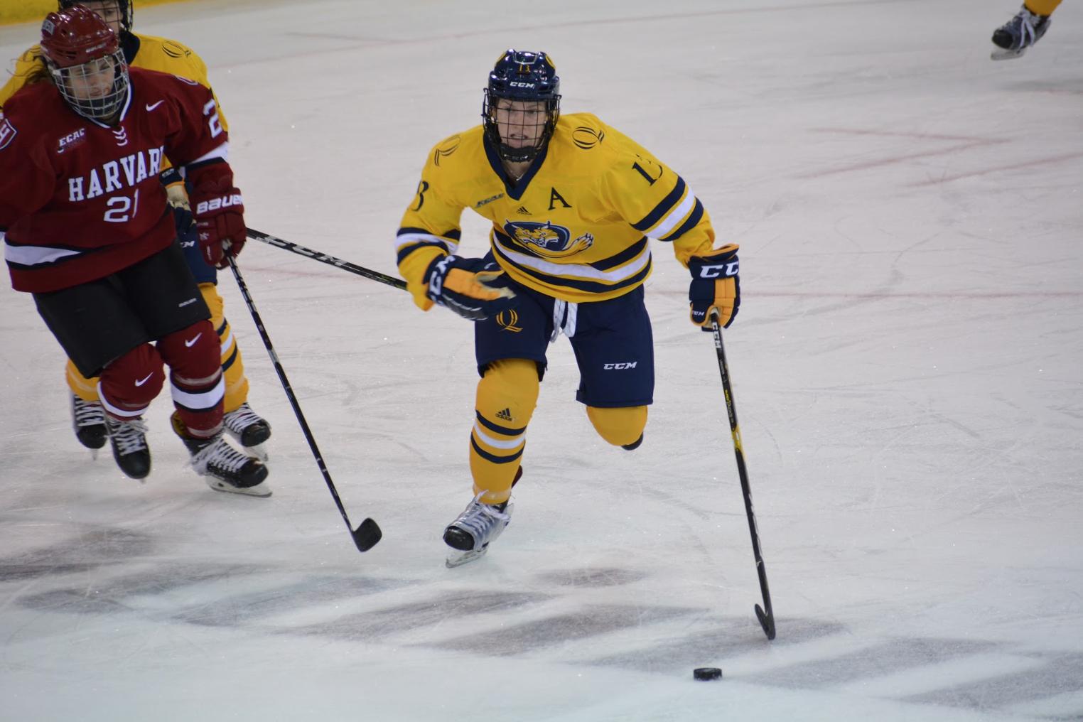 Quinnipiac women's ice hockey edges Harvard, 1-0