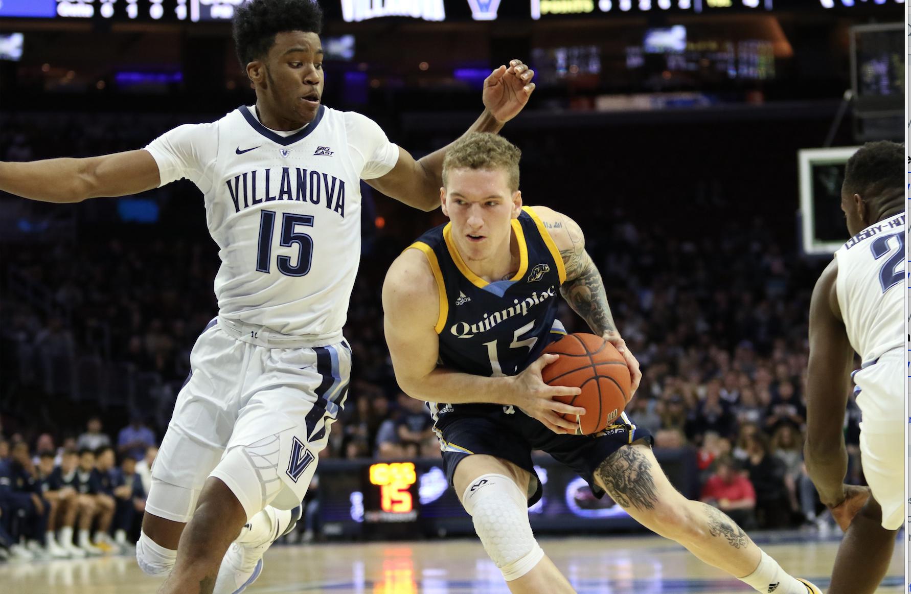 No. 9 Villanova handles Quinnipiac men's basketball, 86-53