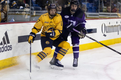 Quinnipiac men's ice hockey closes out non-conference play with a 4-1 win over Holy Cross