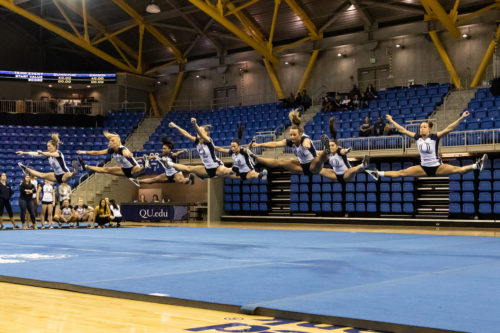 Quinnipiac acrobatics and tumbling drops season opener against Oregon