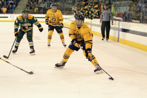 Senior Night spoiled by No. 13 Clarkson for No. 5 Quinnipiac men's ice hockey