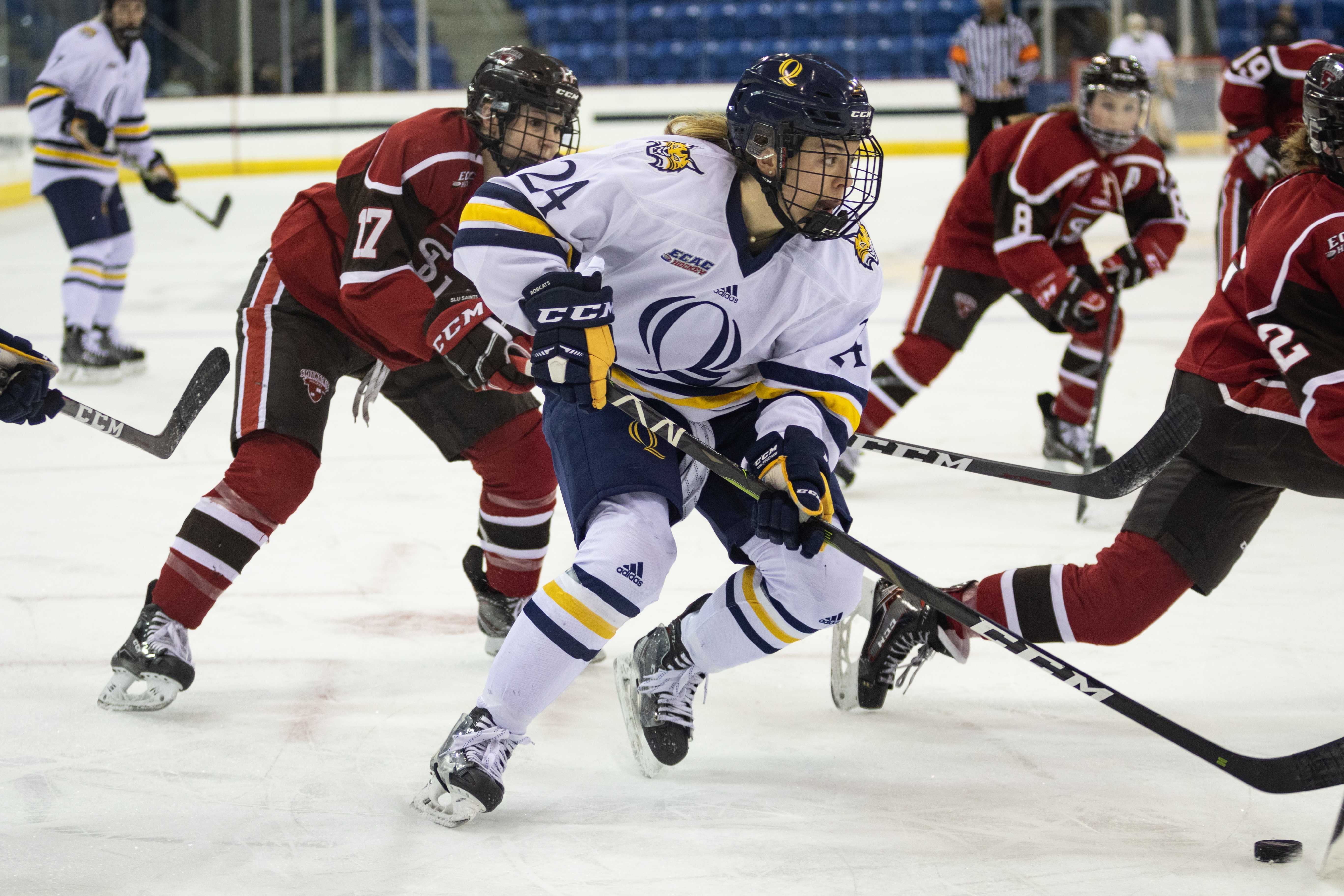 Late push isn't enough as Quinnipiac women's ice hockey loses to St. Lawrence