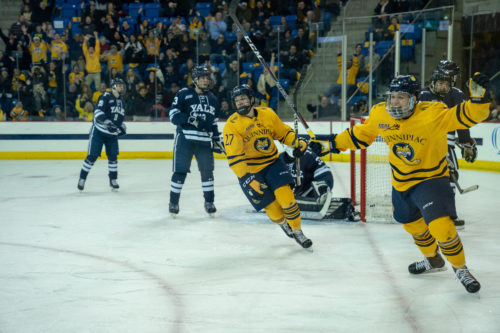 Quinnipiac men's ice hockey wins part one of the Battle of Whitney Ave