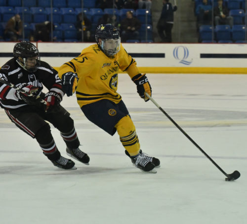 Quinnipiac men's ice hockey falls to Brown 4-1