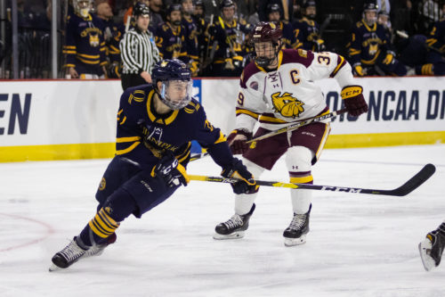 Quinnipiac men's ice hockey can't complete comeback against Minnesota-Duluth