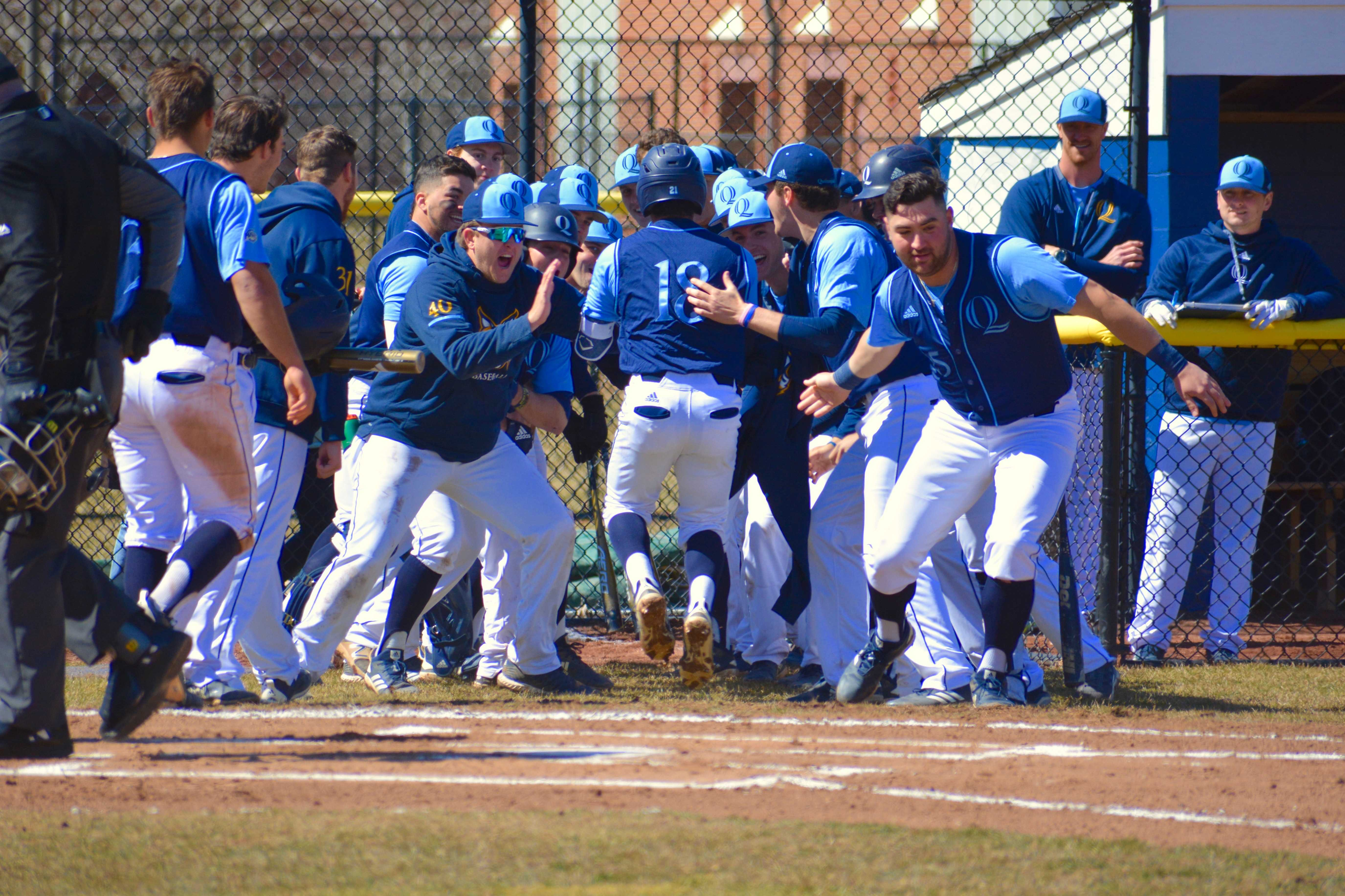 Quinnipiac baseball completes weekend sweep of Saint Peter's to open MAAC play