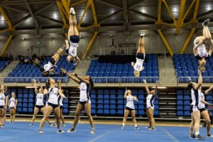 Quinnipiac acrobatics and tumbling win first meet of the season
