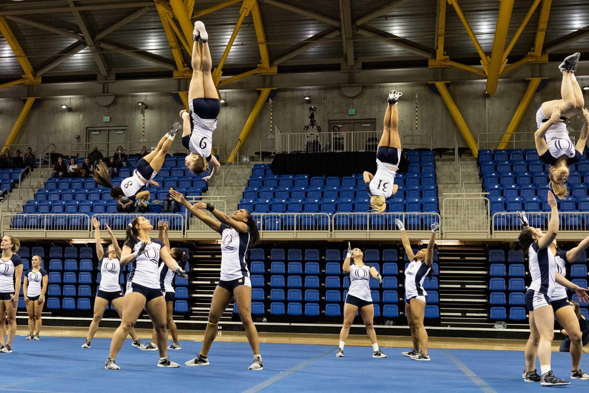 Quinnipiac acrobatics and tumbling win first meet of the season