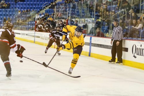 Quinnipiac men's ice hockey upset by Brown in game one of the ECAC Hockey quarterfinals