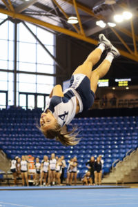 Quinnipiac acrobatics and tumbling send seniors off with win on Senior Day