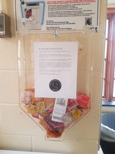SGA pilot program provides condom dispensers in Commons building