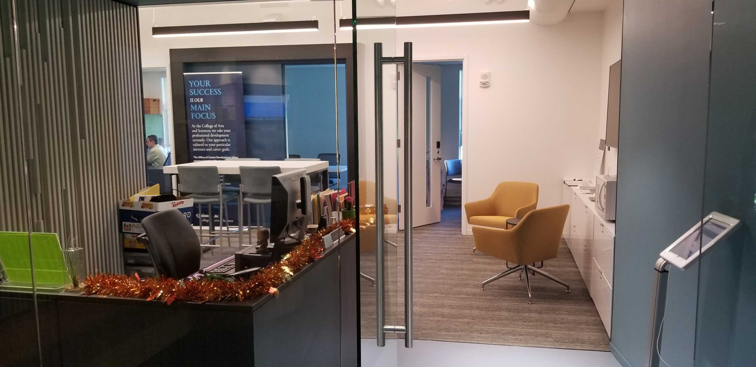 The new advising center in CAS is one of Smart's most recent accomplishments.