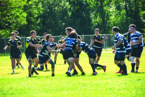 The Quinnipiac rugby team lost 50-10 to Dartmouth on Saturday.