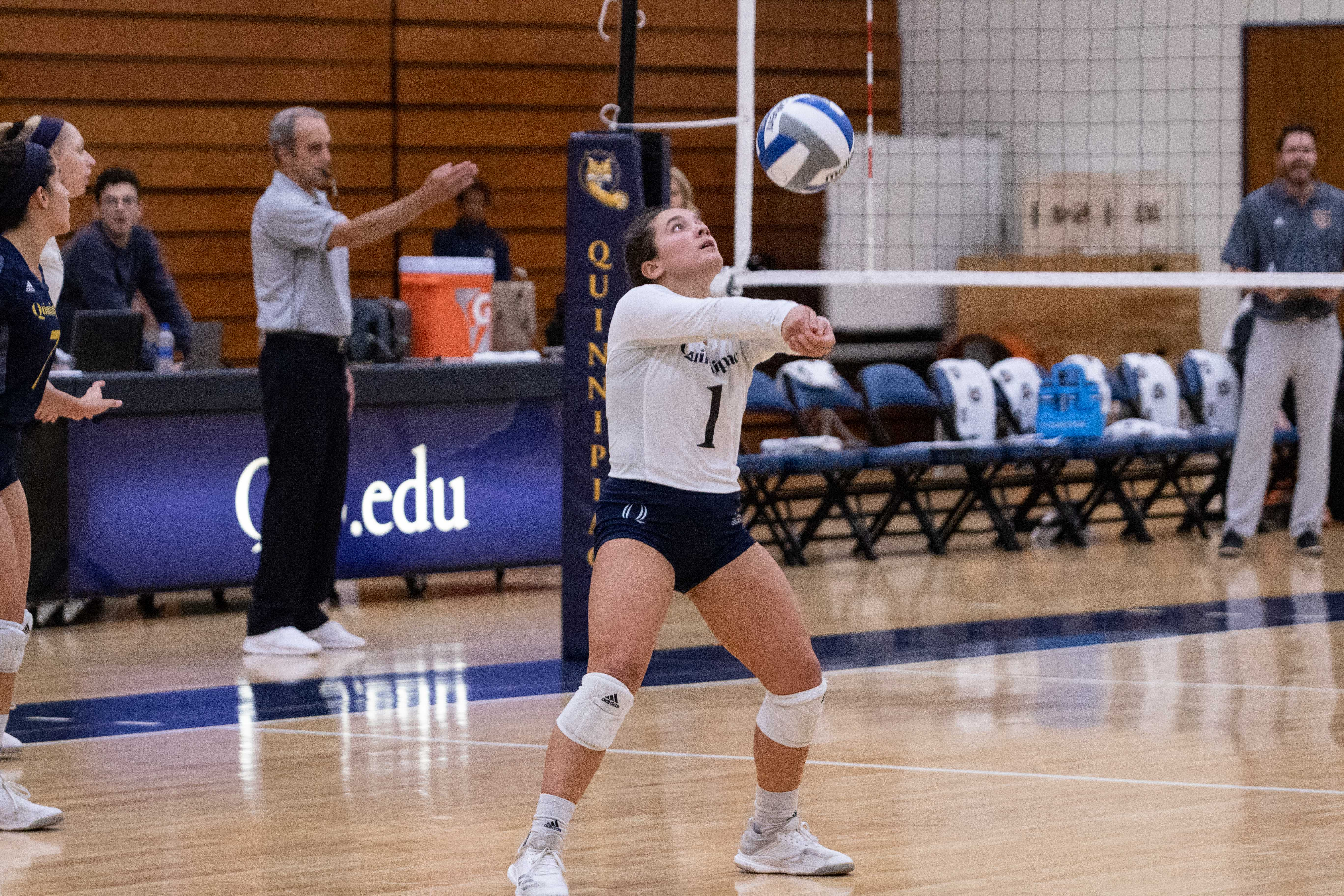 Quinnipiac volleyball wins its home opener