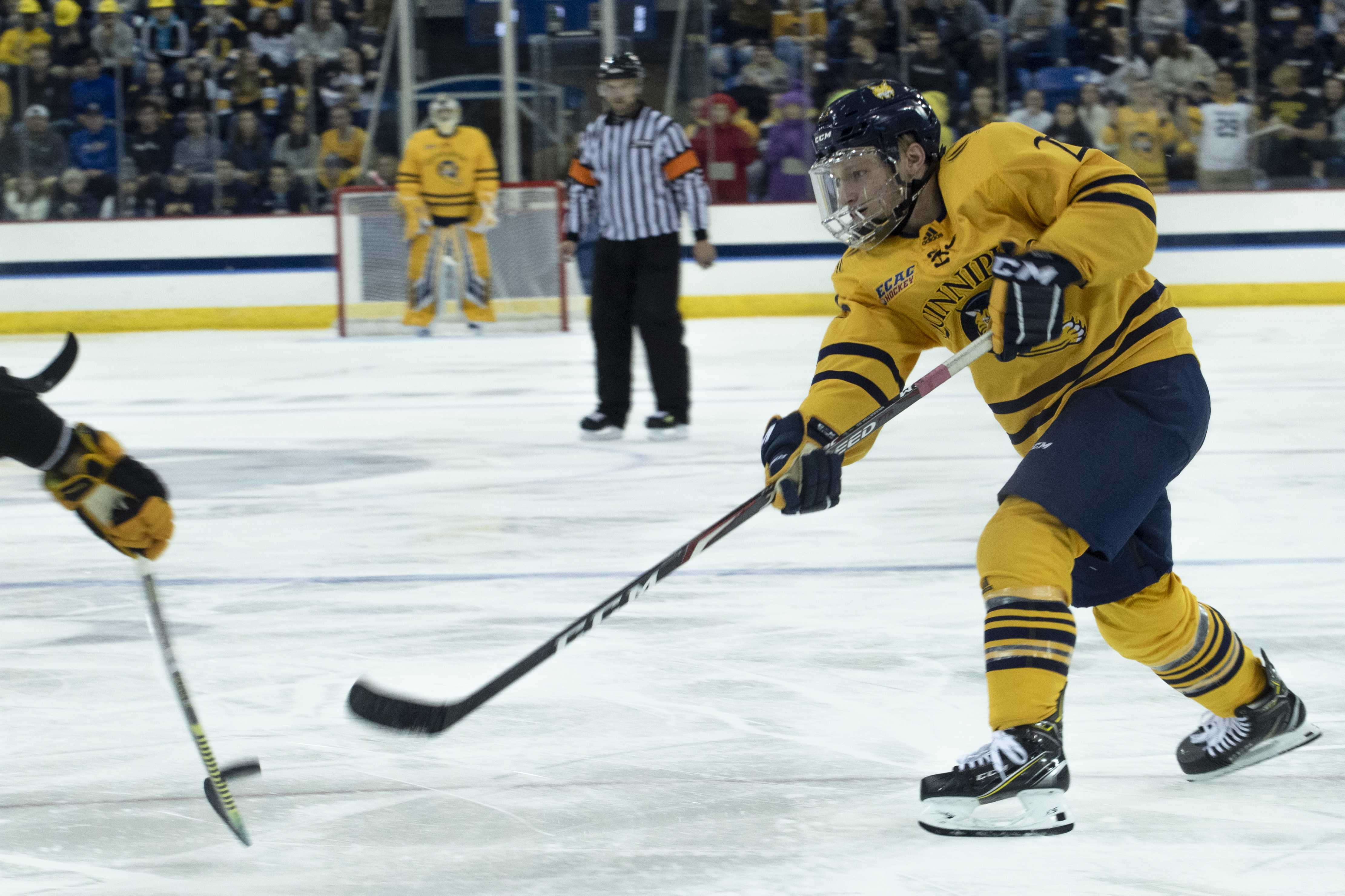 Quinnipiac defeats AIC in season opener
