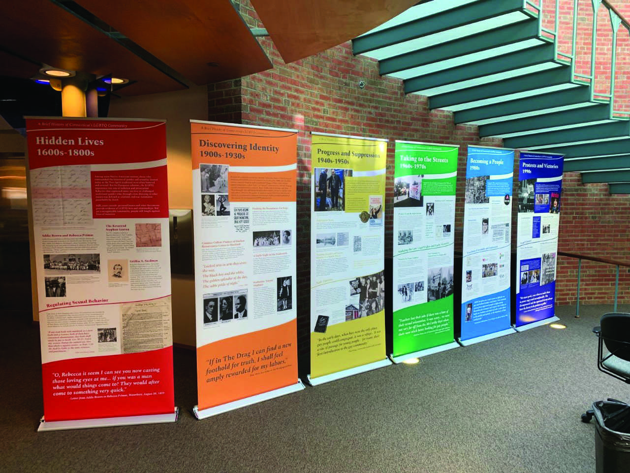 LGBTQ history exhibits