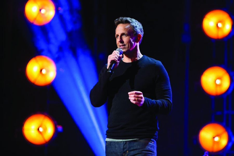 Seth+Meyers%27+Netflix+stand-up+comedy+special+covered+a+variety+of+topics%2C+including+dating+and+the+birth+of+his+second+child.+