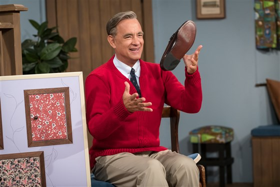 'A Beautiful Day in the Neighborhood' opened up with Tom Hanks singing the theme song of the beloved series, 'Mister Rogers' Neighborhood.'