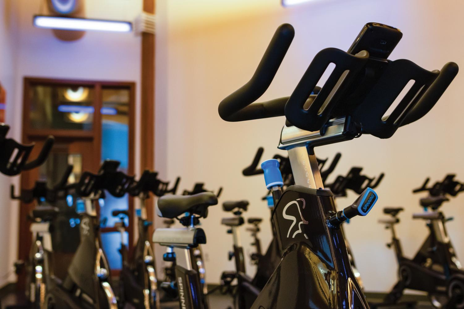 Twenty-nine new cardio machines with Bluetooth capabilities were installed.
