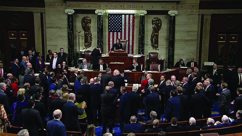 The House of Representatives voted in favor of adopting the articles of impeachment against President Donald Trump.