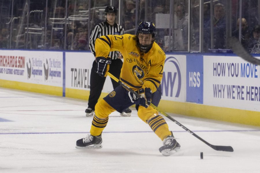 Quinnipiac defeats UConn on day one of the Connecticut Ice tournament