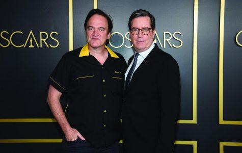 Oscars nominee Quentin Tarantino (left) posed with Academy President David Rubin.