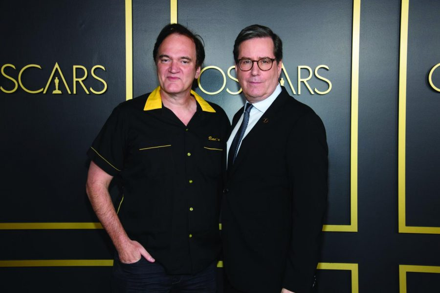 Oscars nominee Quentin Tarantino (left) posed with Academy President David Rubin.