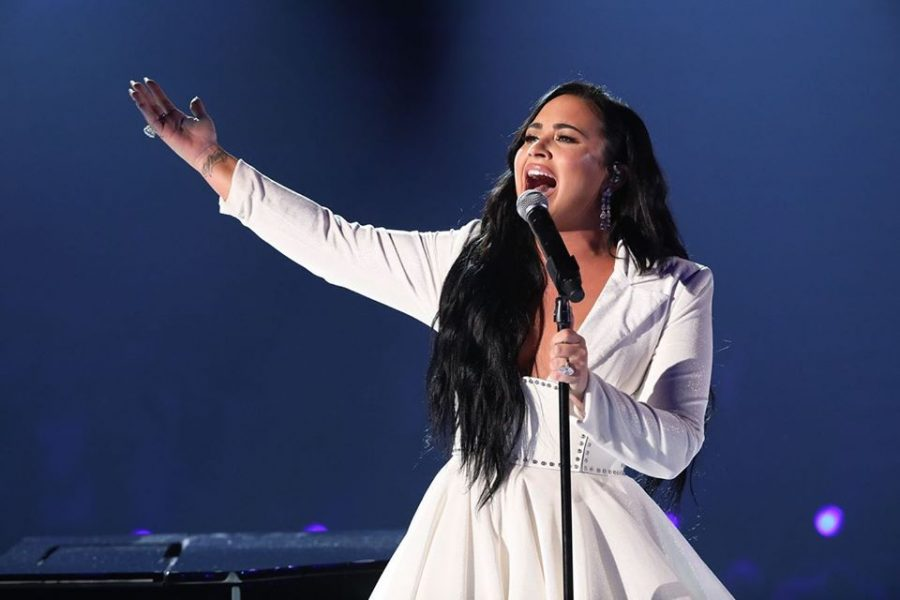 Demi Lovato recorded 'Anyone' in 2018.