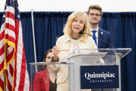 President Judy Olian earned upwards of half a million dollars in her first six months at Quinnipiac University.