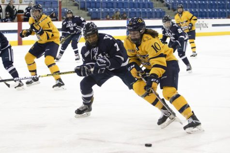 Women's ice hockey trounces rival Yale