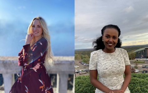 Barbora Hriňáková and Tina Asfaw compete for vice president for finance for SGA
