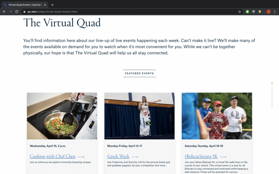 The Virtual Quad is providing students with a safe space to access information about upcoming events hosted by Quinnipiac.