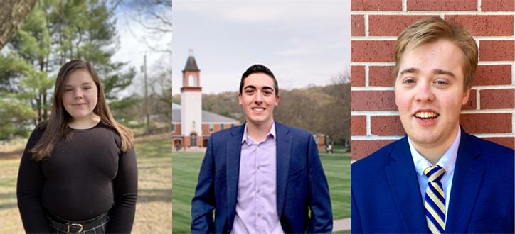 Ciampanelli, Gustafson, Manzari campaign for vice president for student experience