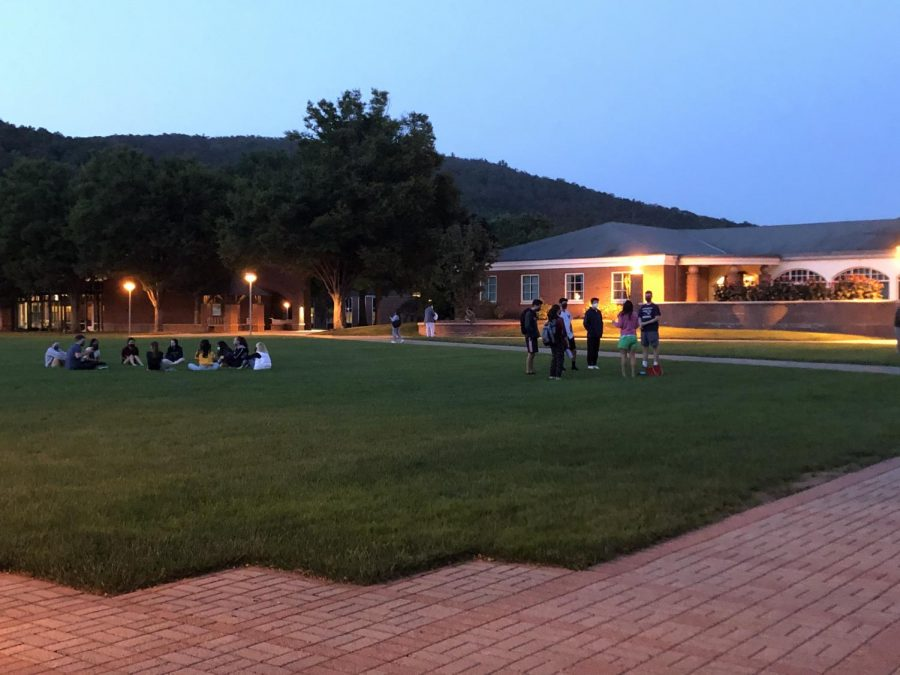 Tom Ellett, chief experience officer, has been hosting evening engagement activities for first-year students at Quinnipiac.