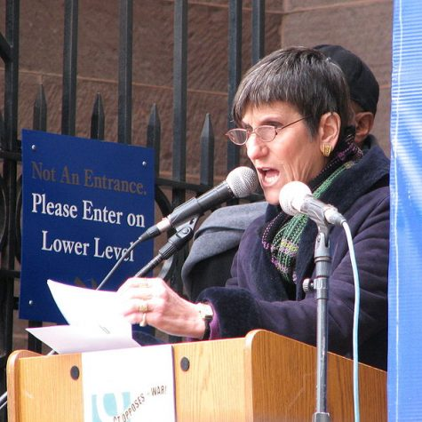 Rosa DeLauro spoke to Quinnipiac students about her experience as a female in politics.