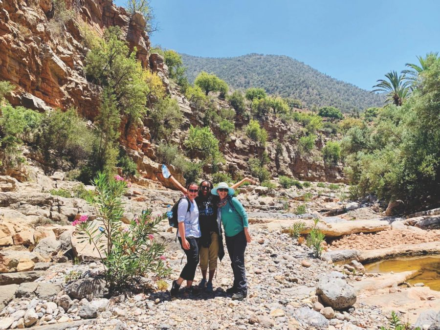 Anthropology professor Hillary Haldane (left) and her two students visited Morocco as part of their research about gender-based violence in 2019.