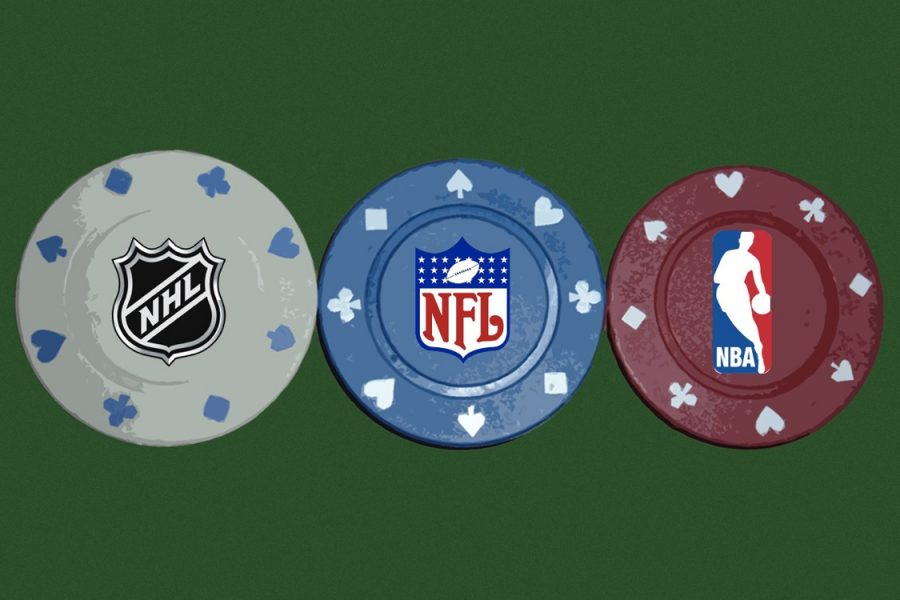 The increased popularity of sports gambling puts young adults at risk of developing a betting problem