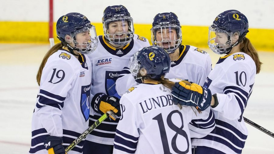 The Quinnipiac womens ice hockey team has scored 15 goals in its last two games.