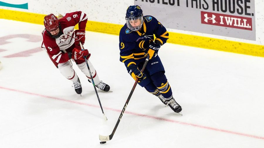 The Quinnipiac women's ice hockey team lost its first game of the season Saturday night against Colgate.