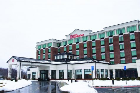 Quinnipiac University partnered with the Hilton Garden Inn to provide an option for students to quarantine at the hotel.