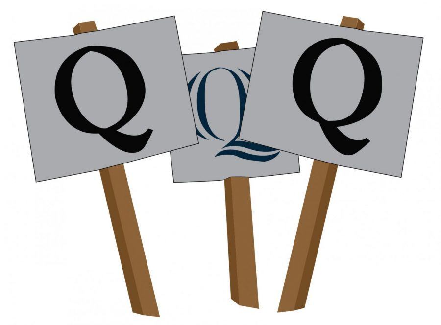 Quinnipiac logo has a look of QAnon