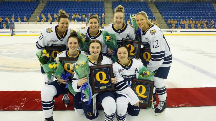Quinnipiac bounces back from Sunday's defeat, beats St. Lawrence 5-3 on Senior Day