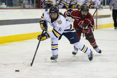 Senior forward Grace Markey is one of six national finalists for the Hockey Humanitarian Award.