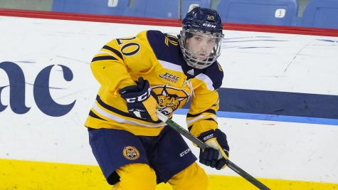 Sophomore forward Matthew Fawcett recorded three goals and three assists in four games for the Bobcats.