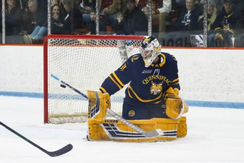 Senior goaltender Keith Petruzzelli is currently third in the country with a 1.66 goals against average (GAA).