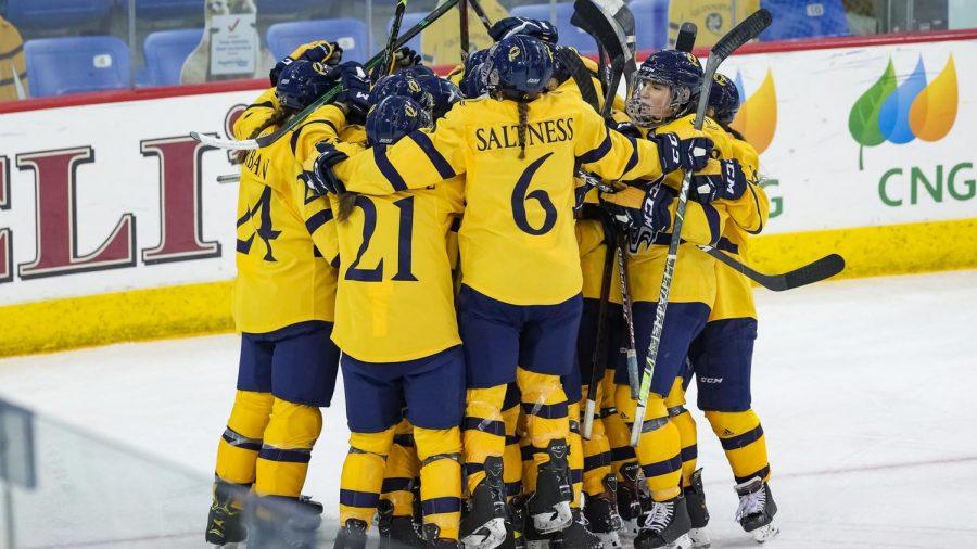 The Quinnipiac women's ice hockey team leads ECAC Hockey in overall goals scored (53).